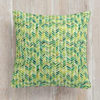 Watercolour Herringbone Square Pillow