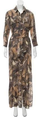 L'Agence Printed Silk Maxi Dress w/ Tags