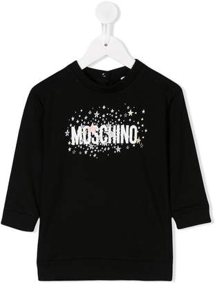 Moschino Kids glittery stars longsleeved T-shirt