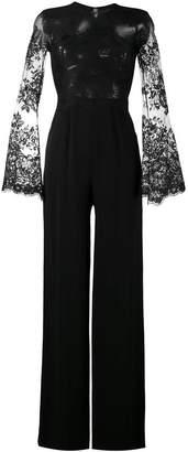 Murad Zuhair lace-panelled jumpsuit