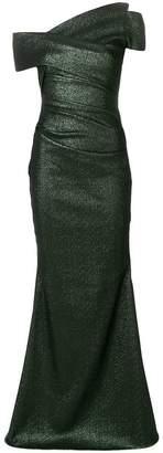 Talbot Runhof one shoulder gown