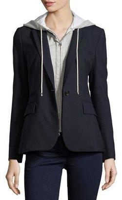 Veronica Beard Classic Crepe Jacket, Navy $545 thestylecure.com