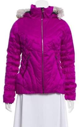 Obermeyer Vegan Fur-Trimmed Hooded Coat