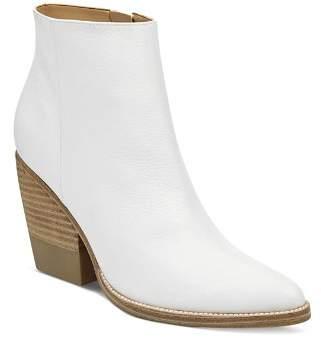 Marc Fisher Women's Bellen Stacked-Heel Leather Booties