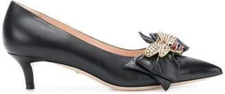 Gucci bow embellished pumps