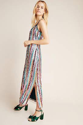 Eva Franco Marguerite Sequined Maxi Slip Dress
