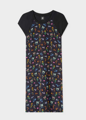 Paul Smith Women's Black 'Flowers' Print Jersey Dress