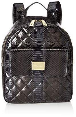 Love Moschino Borsa Quilted Snake Pu, Women's Backpack Handbag,10x28x29 cm (B x H T)