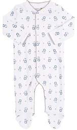 Barneys New York Infants' Lion-Print Footed Coverall-Blue