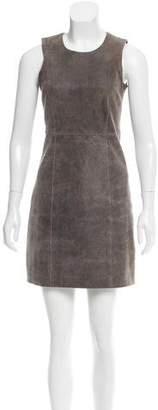 Theyskens' Theory Sleeveless Leather Dress