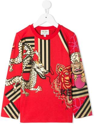 Kenzo long-sleeve printed T-shirt