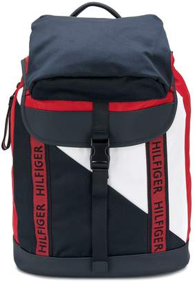 Tommy Hilfiger contrast flap backpack