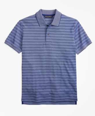 Brooks Brothers (ブルックス ブラザーズ) - コットン/ポリエステル テキスチャードストライプ ポロシャツ Slim Fit
