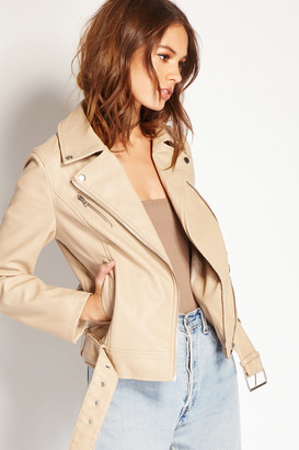 FOREVER 21+ Faux Leather Moto Jacket $27.90 thestylecure.com