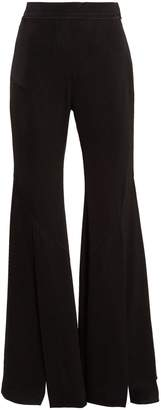 Higher and Higher wide-flared crepe trousers