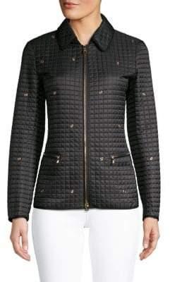 Salvatore Ferragamo Grommet Quilted Jacket