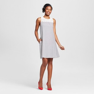Merona Women's Lace Yoke Striped Knit Swing Dress $22.99 thestylecure.com