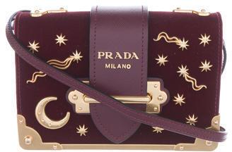 pradaPrada 2016 Small Velvet Astrology Cahier Bag