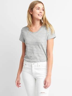 Gap Swing Stripe Crewneck T-Shirt