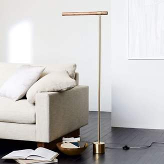 west elm Linear Wood LED Floor Lamp