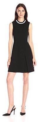 Tommy Hilfiger Women's Sporty Neck Bi-Stretch Fit and Flare Dress $129 thestylecure.com
