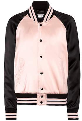 Saint Laurent Satin bomber jacket