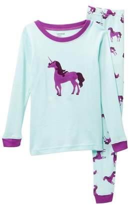 Leveret Unicorn 2-Piece Pajama Set (Toddler, Little Girls, & Big Girls)