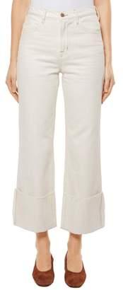 J Brand Joan High Waist Crop Wide Leg Jeans