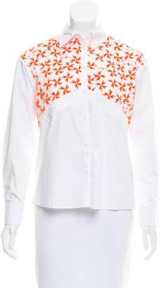 Tanya Taylor Embroidered Button-Up Top