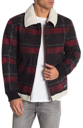 Calvin Klein Plaid Lined Chore Jacket