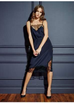 Fleur Du Mal Rose Lace Dress