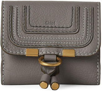 Chloé Grey Small Leather Flap Wallet