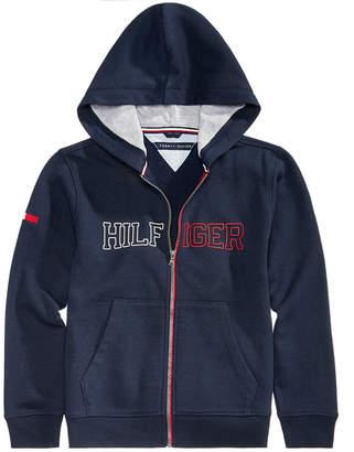 Tommy Hilfiger Big Boys Logo-Print Zip-Up Hoodie
