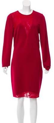Halston Long Sleeve Bodycon Dress
