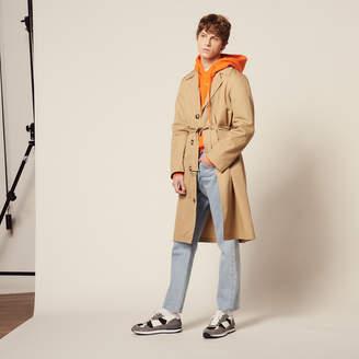 Sandro Long cotton trench coat