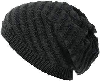 d08ee9e1d64 Siggi Unisex Men Cable Crochet Knit Slouch Beanie Hat Winter Skull Beanie  Cap