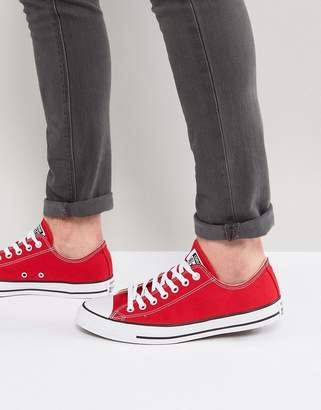Converse ox plimsolls in red m9696