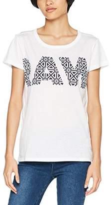 G Star Women's Rc Oluva Straight R T Wmn S/s T-Shirt, White 110