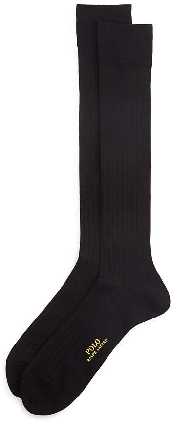 Polo Ralph Lauren Over-The-Calf Ribbed Dress Socks