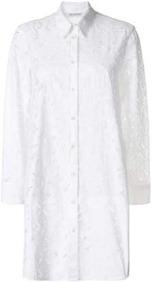 Neil Barrett geometric pattern long shirt