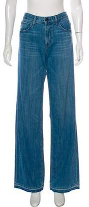 Helmut Lang Distressed Mid-Rise Jeans
