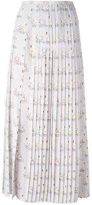 Stella McCartney 'Domiziana' swan print skirt