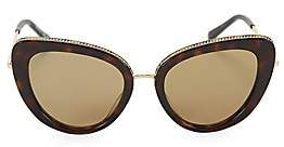 Stella McCartney Women's 50MM Chain-Embellished Separated Cat Eye Sunglasses