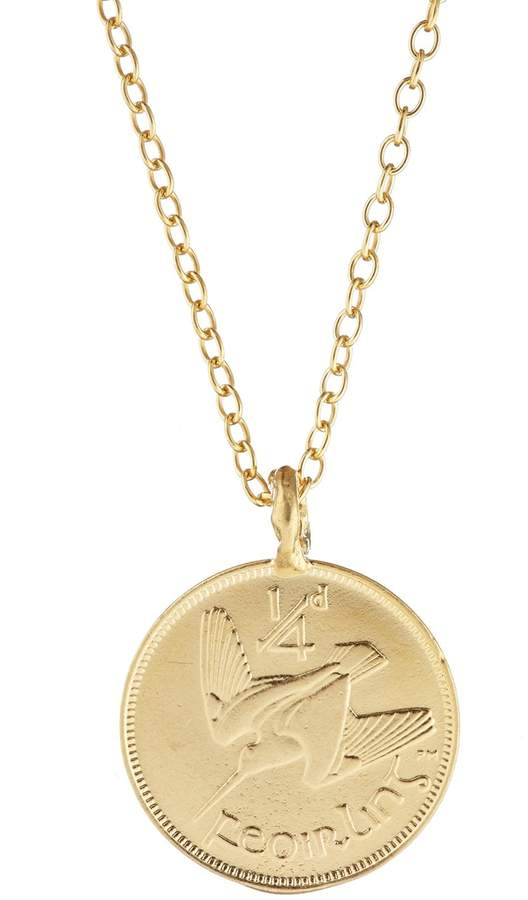 Chupi - Worth Your Weight in Gold Farthing Coin Necklace