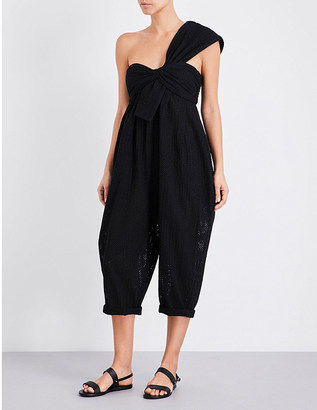 Marysia Venice cotton jumpsuit $435 thestylecure.com