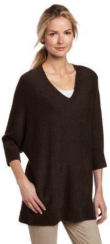 Sofie Women's 100% Cashmere V-Neck Tunic Sweater