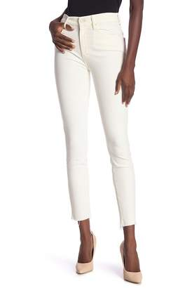 Mother The Looker High Waist Fray Ankle Skinny Jeans (Whipping the Cream)
