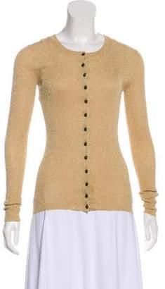 Dolce & Gabbana Metallic Rib-Knit Cardigan