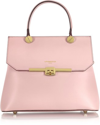Le Parmentier Atlanta Candy Pink Leather Top Handle Satchel Bag w/Shoulder Strap
