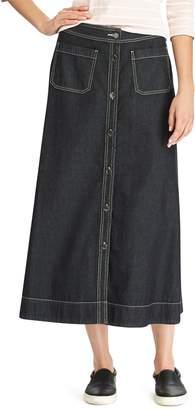 Chaps Women's A-Line Jean Maxi Skirt